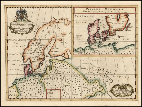 46-Europe, Baltic Countries and Scandinavia Map By Edward Wells