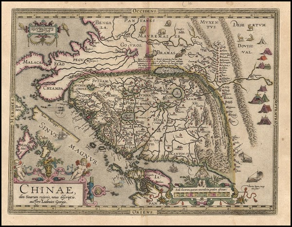 38-Asia, China, Japan, Southeast Asia and Philippines Map By Abraham Ortelius