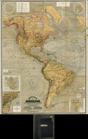 91-South America and America Map By C. F.  Baur