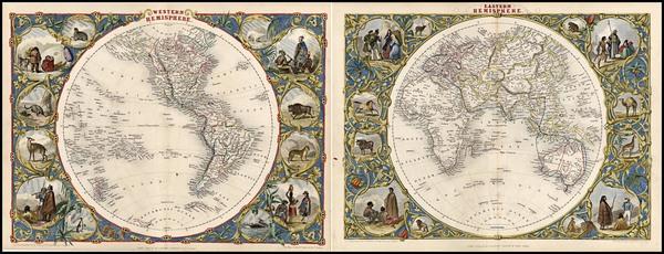 25-World, World, Eastern Hemisphere, Western Hemisphere, South America and America Map By John Tal