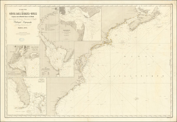 76-New England, Mid-Atlantic and Southeast Map By Aime Robiquet