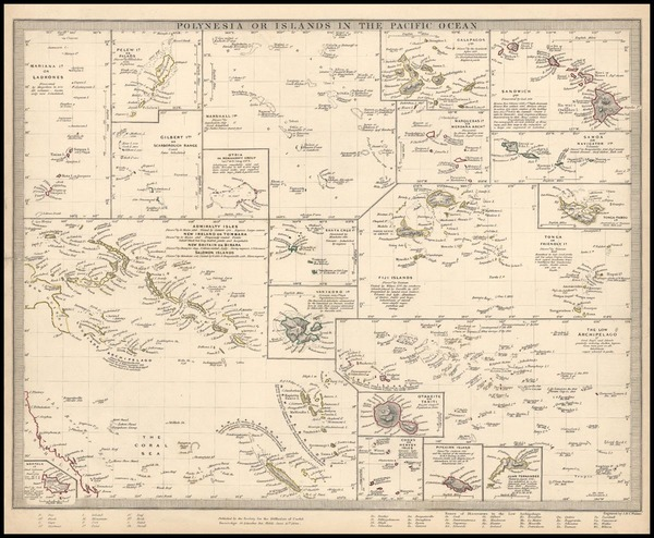 81-World, Hawaii, Australia & Oceania, Pacific, Oceania, Hawaii and Other Pacific Islands Map