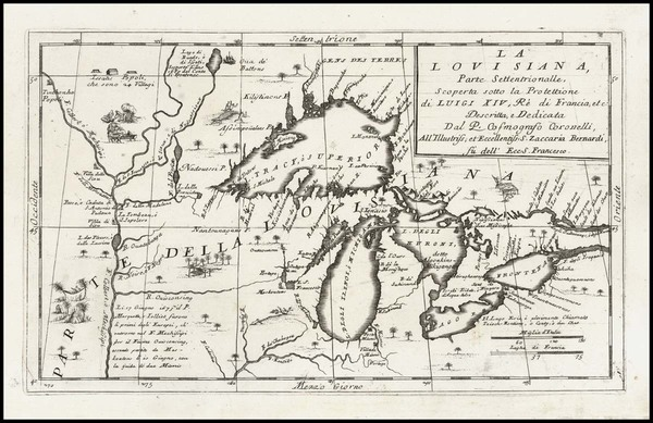 49-Midwest and Canada Map By Vincenzo Maria Coronelli