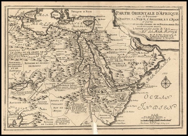 7-Africa, North Africa, West Africa and African Islands, including Madagascar Map By Nicolas de F