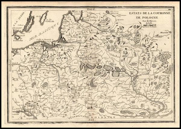 88-Europe, Poland, Russia, Ukraine and Baltic Countries Map By Nicolas de Fer