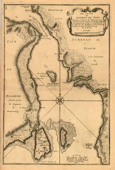 47-Baltic Countries and Scandinavia Map By Nicolas de Fer