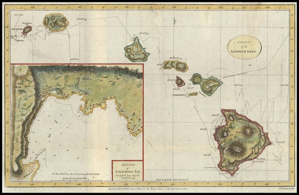 100-Hawaii, Australia & Oceania and Hawaii Map By James Cook