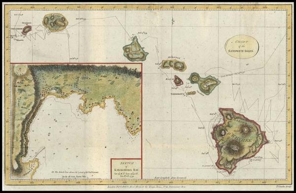 74-Hawaii, Australia & Oceania and Hawaii Map By James Cook