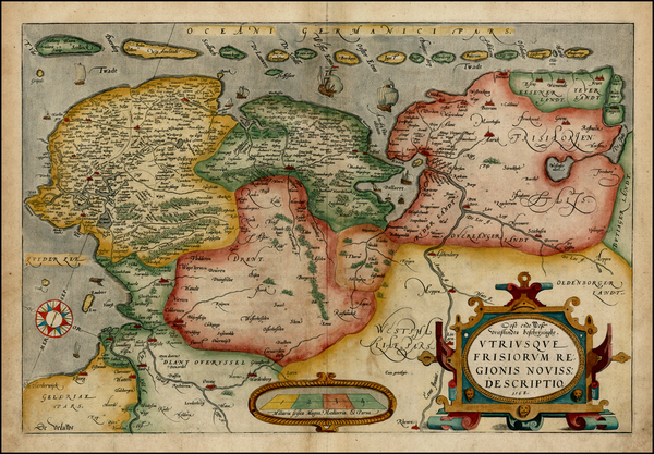 11-Netherlands and Germany Map By Abraham Ortelius