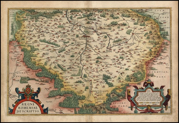 69-Europe and Czech Republic & Slovakia Map By Abraham Ortelius