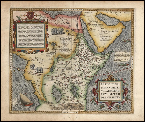 98-Africa, Africa, North Africa, East Africa and West Africa Map By Abraham Ortelius