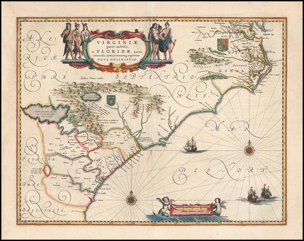 46-Southeast Map By Willem Janszoon Blaeu