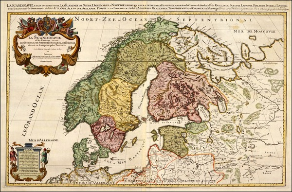 65-Europe and Scandinavia Map By Alexis-Hubert Jaillot