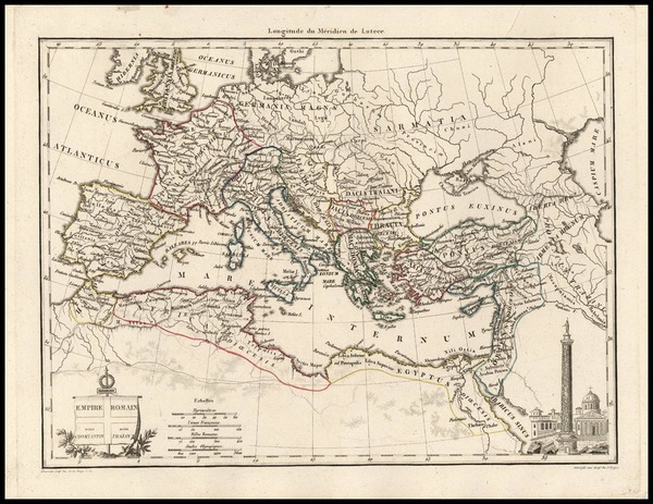 68-Europe, Europe, Italy and Mediterranean Map By Conrad Malte-Brun