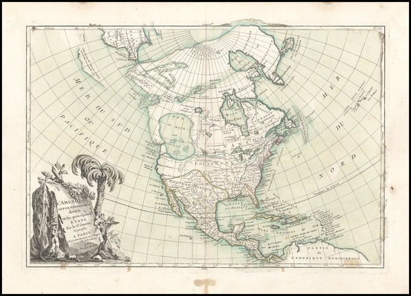 20-Alaska and North America Map By Jean Janvier
