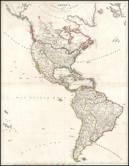 37-South America and America Map By Simon Schopp & Co.