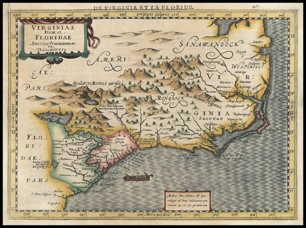 94-Southeast Map By Johannes Cloppenburg