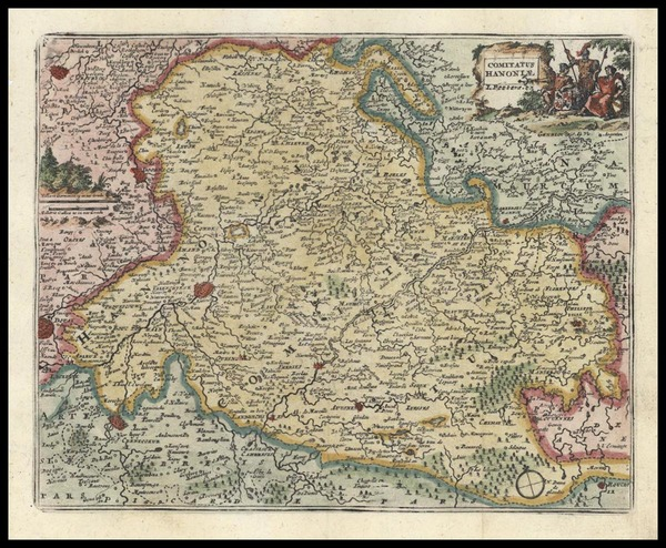 45-Europe and Germany Map By Don Francisco De Afferden
