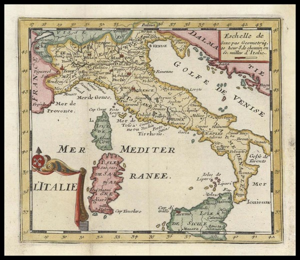 32-Europe and Italy Map By Don Francisco De Afferden