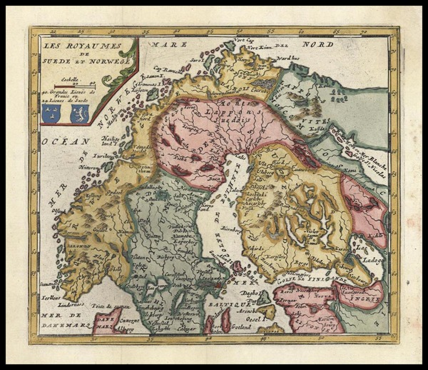 71-Europe and Scandinavia Map By Don Francisco De Afferden