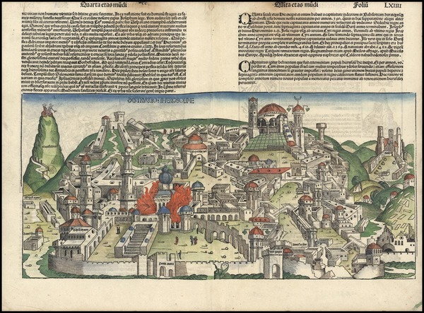 28-Asia and Holy Land Map By Hartmann Schedel