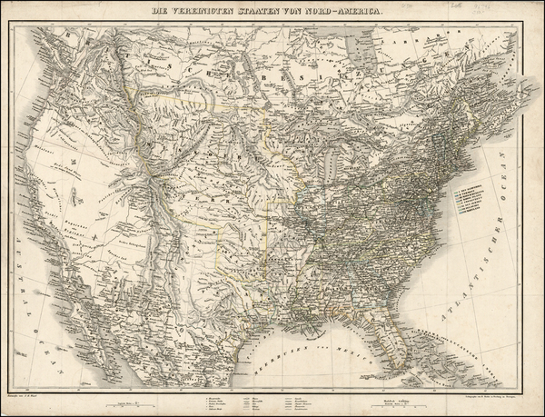79-United States and Texas Map By J.E. Woerl