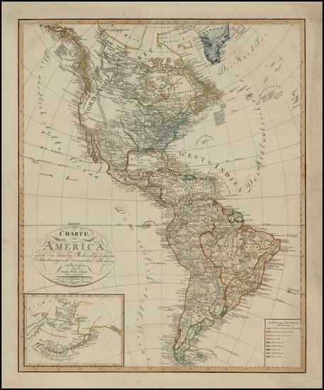 99-South America and America Map By Freidreich Wilhem Steit