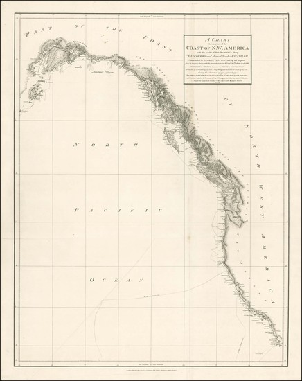 95-Alaska and California Map By George Vancouver