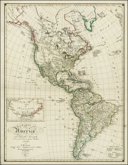 69-South America and America Map By F.W. Streit / Freidrich Campe