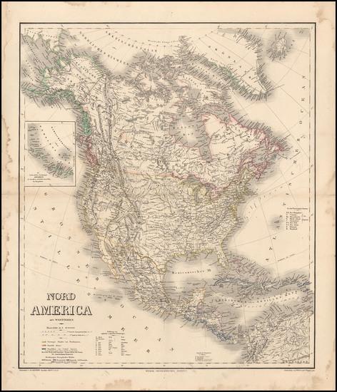 43-North America Map By Heinrich Kiepert