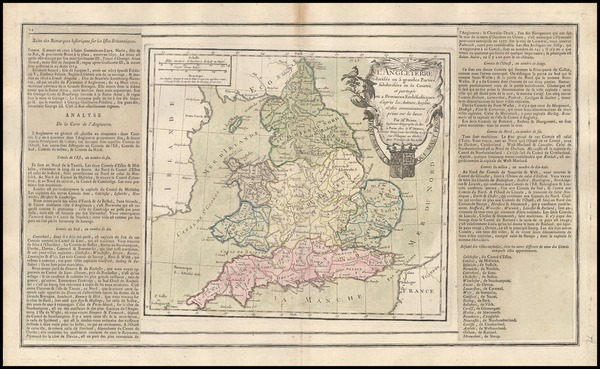 3-England Map By Louis Brion de la Tour