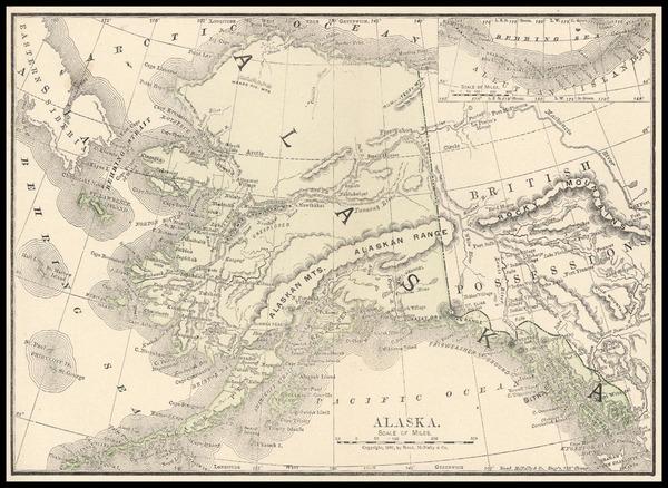 75-Alaska Map By Rand McNally & Company
