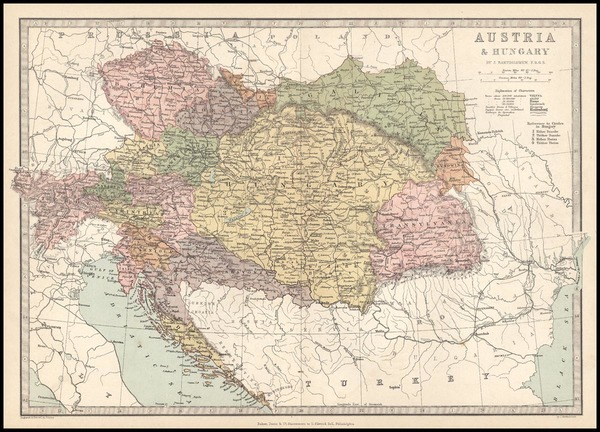 40-Europe, Austria, Poland, Hungary and Balkans Map By T. Ellwood Zell