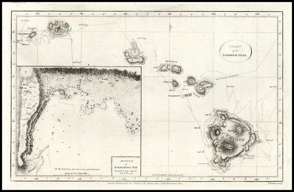 87-Hawaii, Australia & Oceania and Hawaii Map By James Cook