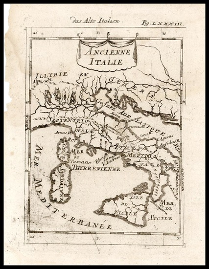 74-Europe and Italy Map By Alain Manesson Mallet