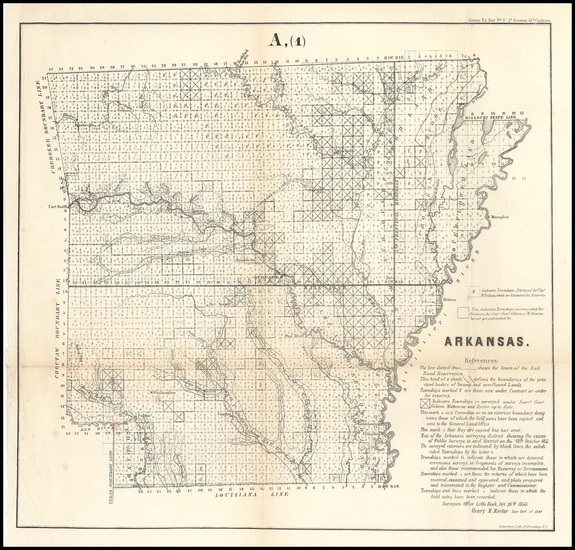 45-South and Arkansas Map By U.S. State Surveys