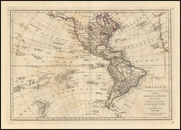 97-World, Western Hemisphere, South America, Pacific and America Map By Samuel Dunn