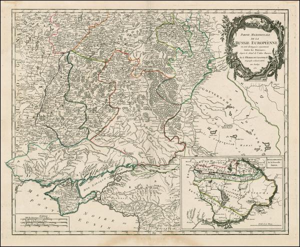 83-Russia and Ukraine Map By Didier Robert de Vaugondy