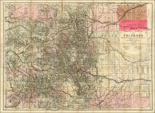 55-Southwest, Rocky Mountains and Colorado Map By Louis Nell