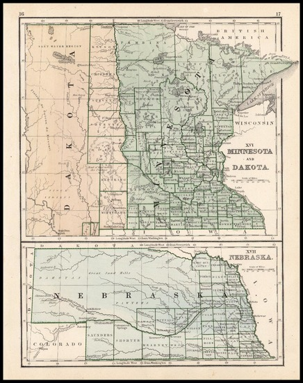 85-Midwest and Plains Map By Rand McNally & Company