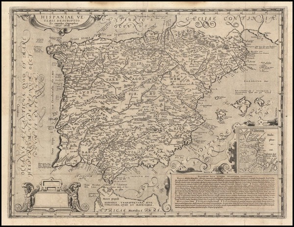 40-Spain and Portugal Map By Andreas Schottus