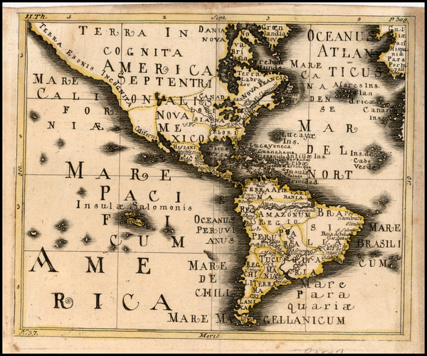 69-North America, South America and America Map By Franz Wagner