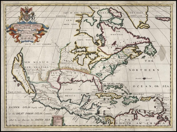 84-North America and California Map By Edward Wells