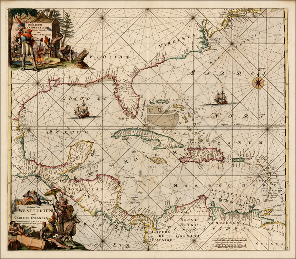 8-Southeast and Caribbean Map By Frederick De Wit
