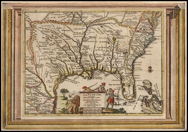 34-South, Southeast, Texas and Midwest Map By Pieter van der Aa