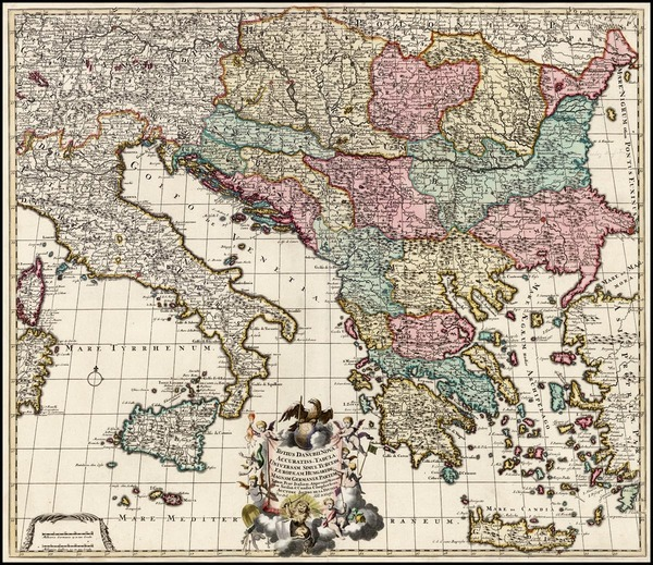 57-Europe, Austria, Hungary, Balkans, Italy, Greece, Mediterranean and Balearic Islands Map By Jac