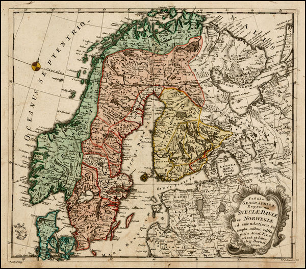 55-Russia, Baltic Countries and Scandinavia Map By Leonard Von Euler