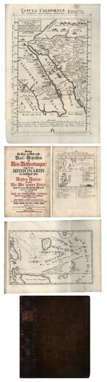 3-Southwest, Mexico, Baja California and California Map By Fr. Eusebio Kino