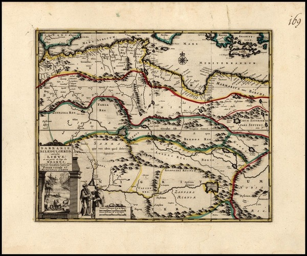 89-North Africa and East Africa Map By Pieter van der Aa