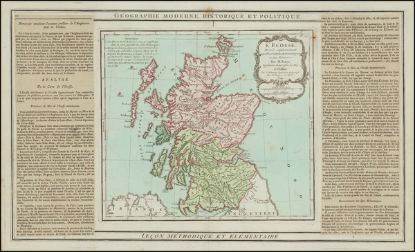 38-Scotland Map By Louis Brion de la Tour